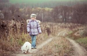 Mit dem Westie spazieren gehen